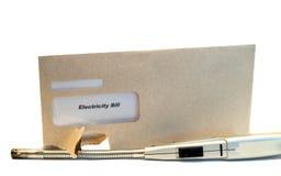 电的票据 免版税图库摄影