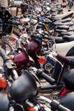 电的自行车许多 免版税库存照片
