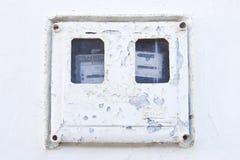 电的配件箱 库存图片