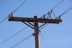 电线杆和导线 库存照片