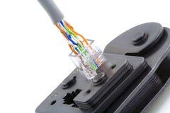 电缆互联网宏观修补 免版税库存图片