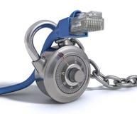 电缆保护的rj45 免版税库存照片