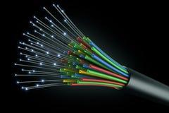 电缆光纤 库存例证