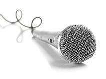 电缆卷曲的mic 免版税库存照片