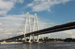 电缆坚持的桥梁 免版税库存图片