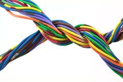 电缆扭转了 免版税库存照片