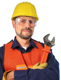 电缆技术人员 免版税图库摄影