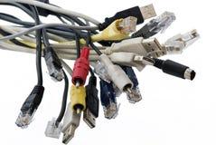 电缆插件 库存照片