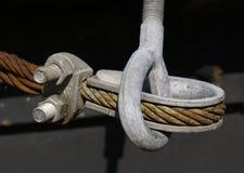 电缆末端 库存图片