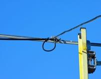 电缆梯子调制解调器电视 图库摄影