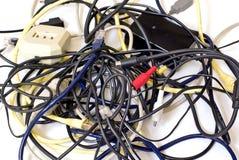 电缆混乱 库存图片