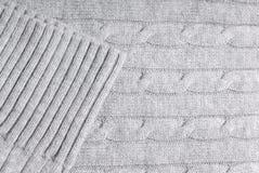 电缆特写镜头模式毛线衣 库存照片