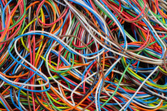电缆电话 库存图片