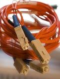 电缆纤维 免版税库存照片