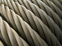 电缆绳索钢结构电汇 免版税库存照片