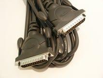 电缆计算机打印机 免版税库存图片