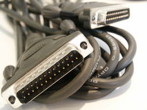 电缆计算机打印机 库存照片