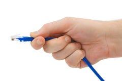 电缆计算机现有量 免版税库存照片