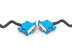 电缆计算机隔离白色 免版税库存照片
