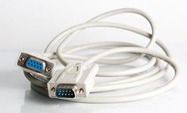 电缆计算机隔离白色 免版税库存图片