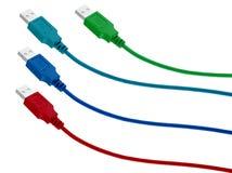 电缆计算机usb 免版税图库摄影