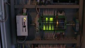 电缆连接了到在的一个开关 股票录像