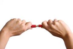 电缆连接 免版税库存图片