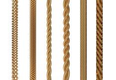 电缆金子 库存例证