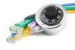电缆锁定网络 库存照片