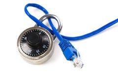 电缆锁定网络 图库摄影