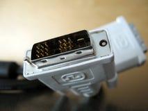 电缆dvi 库存照片
