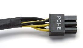 电缆e pci次幂 库存照片
