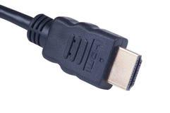 电缆hdmi插口 库存图片