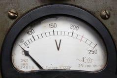 电老电压表 库存图片