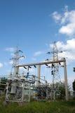 电能变压器在高压分站 免版税库存图片