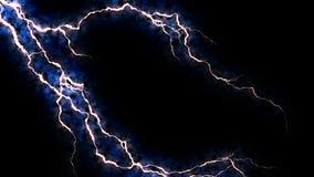电脆皮 与电弧的抽象背景 现实雷击 与闪动的雷暴 库存例证