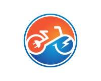 电自行车模板传染媒介 库存照片