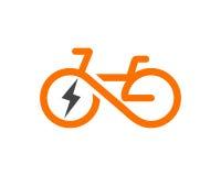 电自行车模板传染媒介 免版税库存照片