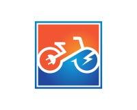 电自行车模板传染媒介 库存图片