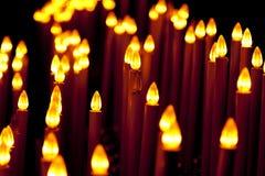 电蜡烛的构成 免版税库存图片