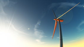 电被生成的风 库存照片