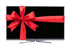 电视作为礼物 免版税库存图片