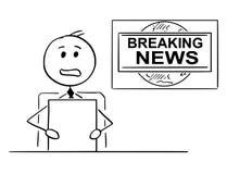 电视动画片或电视新闻记者或者赠送者 皇族释放例证