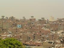 电视卫星盘在开罗 库存照片