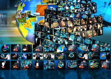 电视和互联网生产 免版税图库摄影