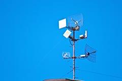 电视和单选antena 免版税图库摄影