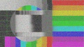 电视坏信号静态噪声和和绒毛显示器显示例证被弄脏的录影镜头有对有色人种的歧视的和圈子 向量例证