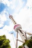 电视塔东方珍珠,上海。 库存照片