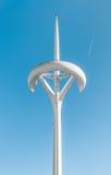 电视塔峰顶在巴塞罗那,西班牙,欧洲。 免版税图库摄影
