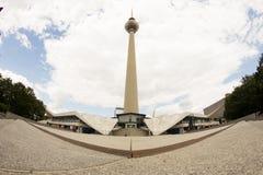 电视塔或Fersehturm在柏林,德国 图库摄影